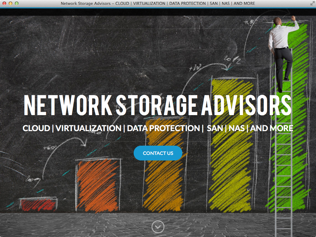 Network Storage Advisors website by PlanStartGrow.com