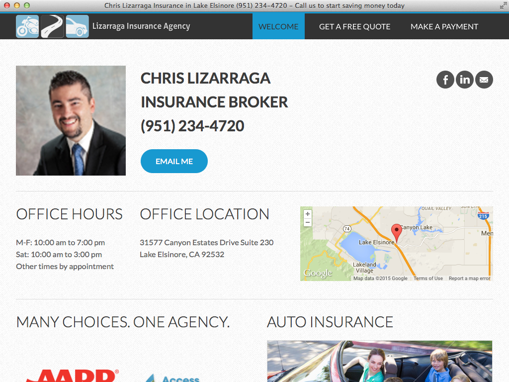 Chris Lizarraga website by PlanStartGrow.com